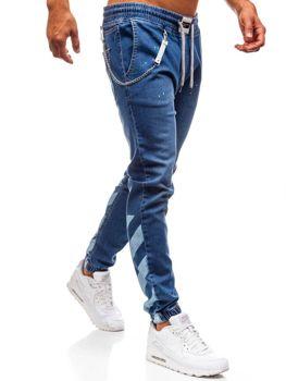 Чоловічі джинсові штани багі сині Bolf 2040