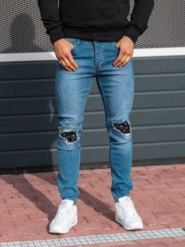 Чоловічі джинсові штани джогери сині Bolf 2044-1