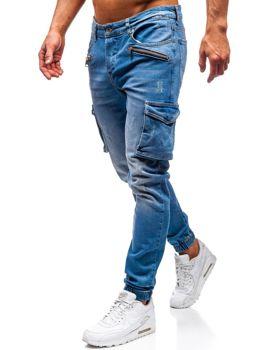 Чоловічі джинсові штани джогери сині Bolf 3002