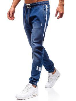 Чоловічі джинсові штани джогери темно-сині Bolf2055