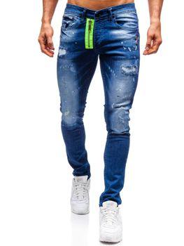 Чоловічі джинсові штани темно-сині Bolf 9236