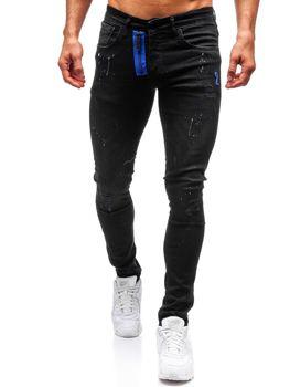 Чоловічі джинсові штани чорні Bolf 9244