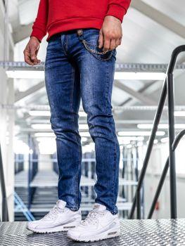 Чоловічі джинсові штани straight leg темно-сині Bolf KA1260