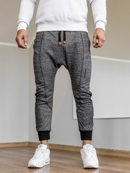 Чоловічі спортивні штани багі чорні Bolf Q5001