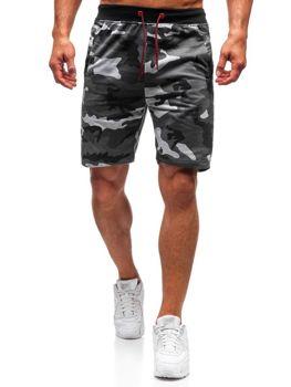 Чоловічі трикотажні шорти камуфляж-сірий Bolf NP25