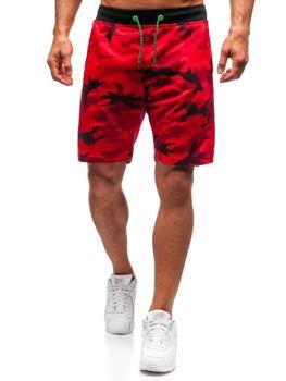 Чоловічі трикотажні шорти камуфляж-червоний Bolf NP25