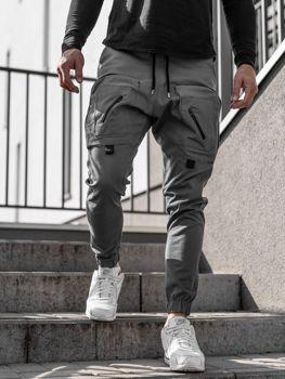 Чоловічі штани джоггери сірі Bolf 0956