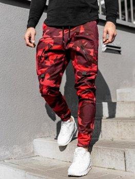 Чоловічі штани джоггери червоні Bolf 0956