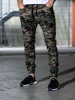 Чоловічі штани джогери зелені Bolf 0829