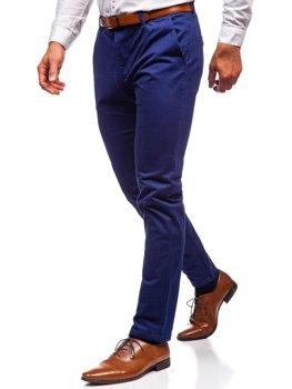 Чоловічі штани чінос кобальтові Bolf 1120