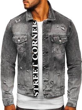 Чорна джинсова чоловіча куртка Bolf 6670 G