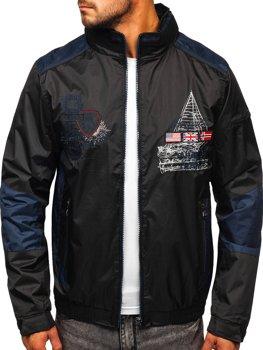 Чорна чоловіча демісезонна куртка Bolf 743