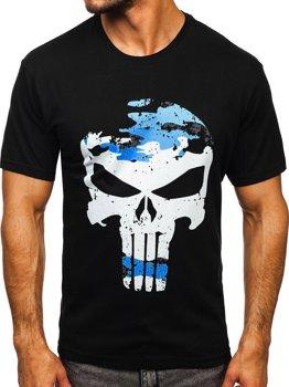 Чорна чоловіча футболка з принтом Bolf 2098