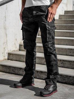 Чорні Чоловічі штани-карго з поясом Bolf 2096
