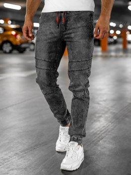 Чорні чоловічі джинси джоггери карго Bolf HY684