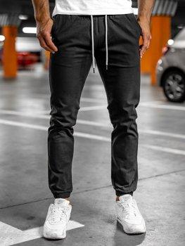 Чорні штани чоловічі джоггери Bolf 1145