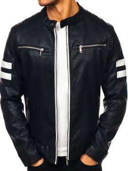 чоловіча кожана куртка чорна Bolf 1075-A ba0a87f167ab5