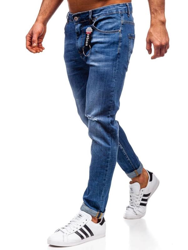 Джинси чоловічі regular fit темно-сині Bolf KX296