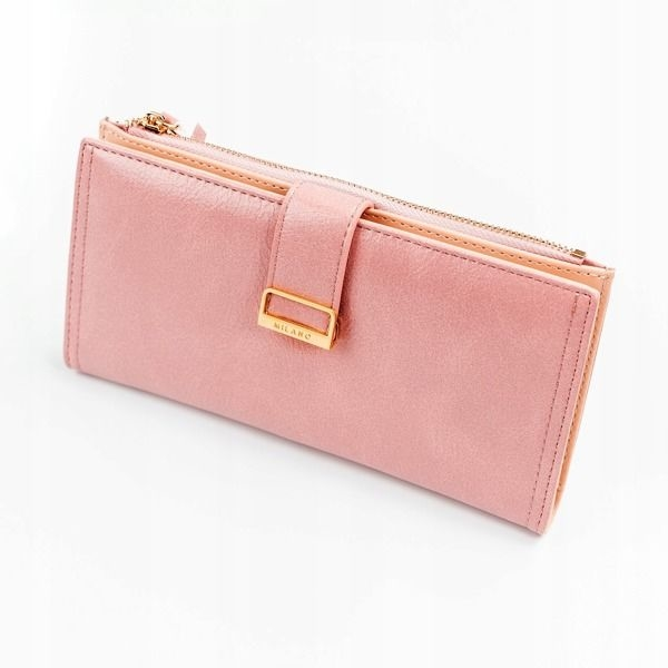 Жіночий гаманець з еко шкіри рожевий 1037