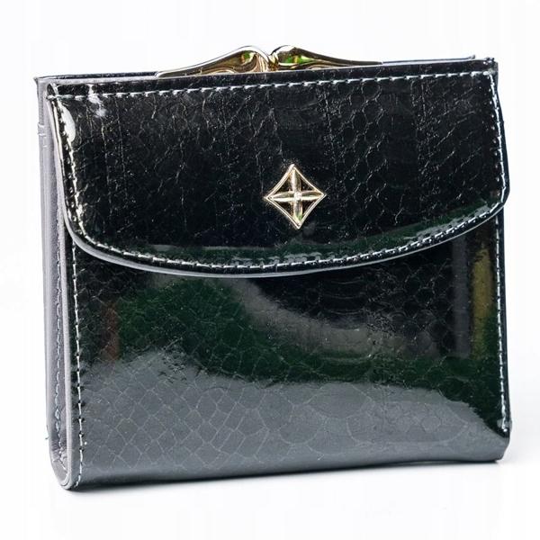 Жіночий гаманець з еко шкіри чорний 2866