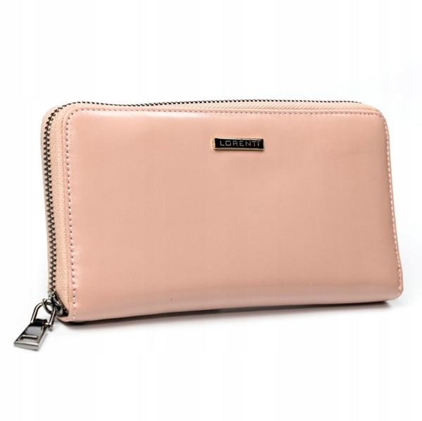 Жіночий шкіряний гаманець лосось 2856