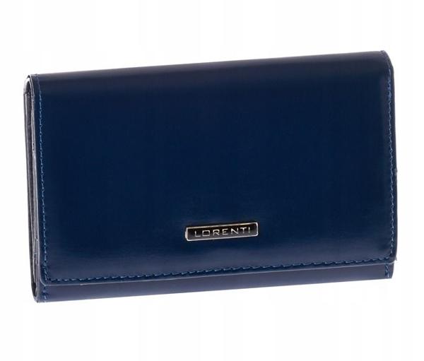 Жіночий шкіряний гаманець темно-синій 1001