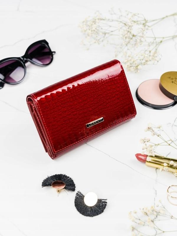 Жіночий шкіряний гаманець червоний 2091
