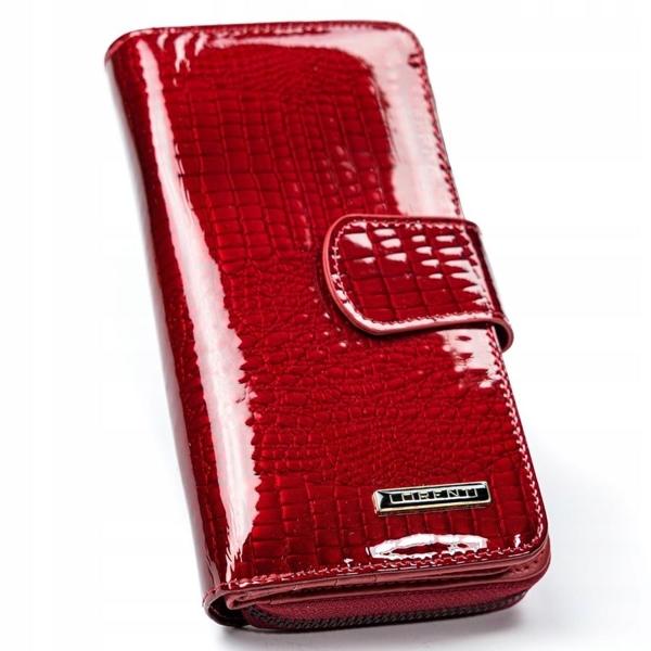 Жіночий шкіряний гаманець червоний 2772
