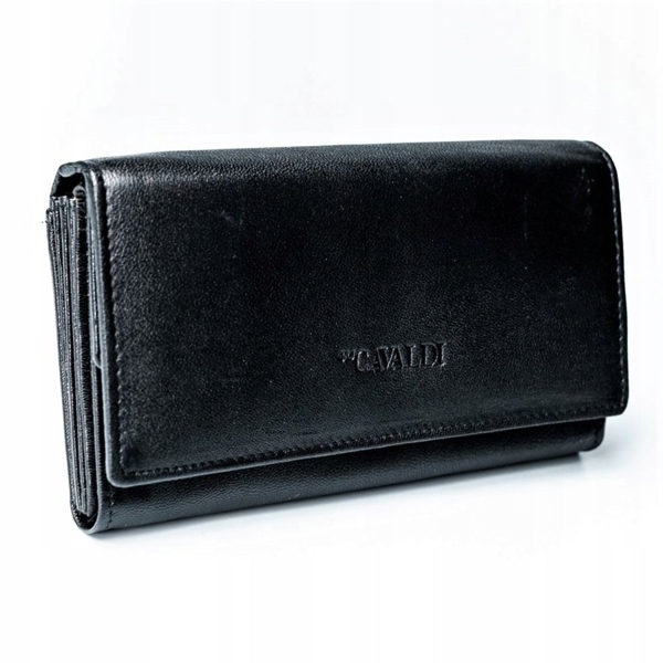 Жіночий шкіряний гаманець чорний 2775