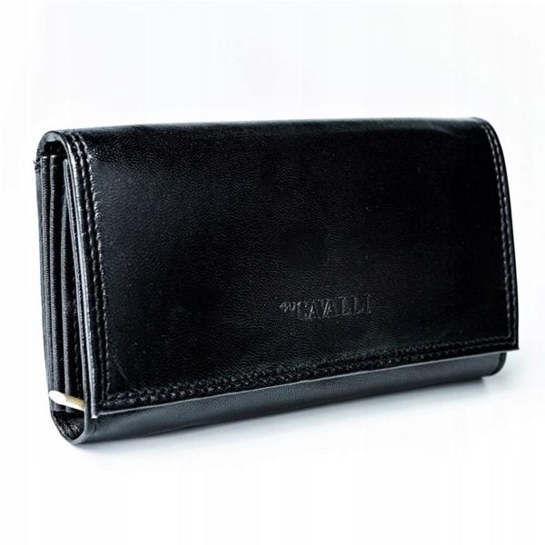 Жіночий шкіряний гаманець чорний 2776