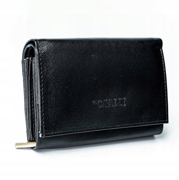 Жіночий шкіряний гаманець чорний 2780