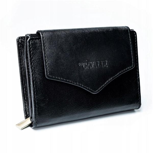 Жіночий шкіряний гаманець чорний 2781