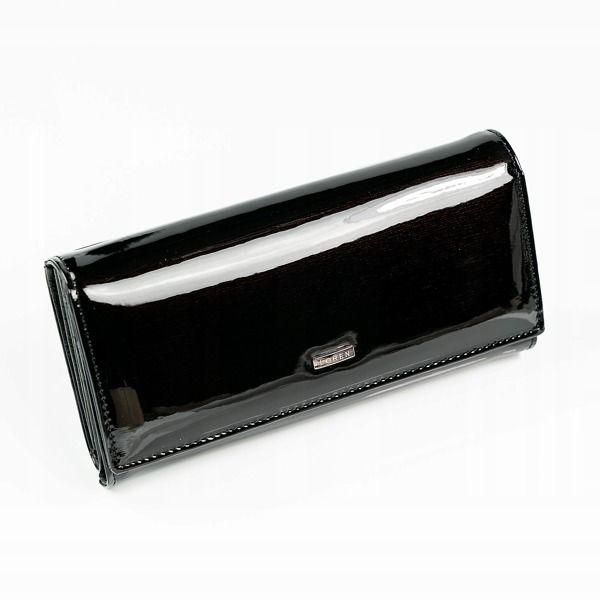 Жіночий шкіряний гаманець чорний 889