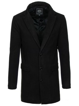 Пальто чоловіче зимове чорне Bolf 1047B