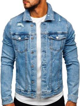 Синя чоловіча джинсова куртка Bolf AK581