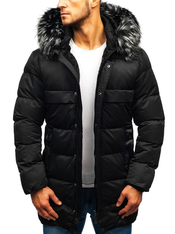 Чоловіча зимова куртка чорна Bolf 99113