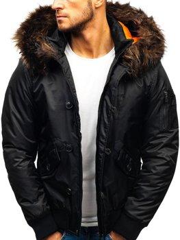 Чоловіча зимова куртка чорна Bolf 99123