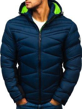 Чоловіча зимова спортивна куртка темно-синя Bolf AB121