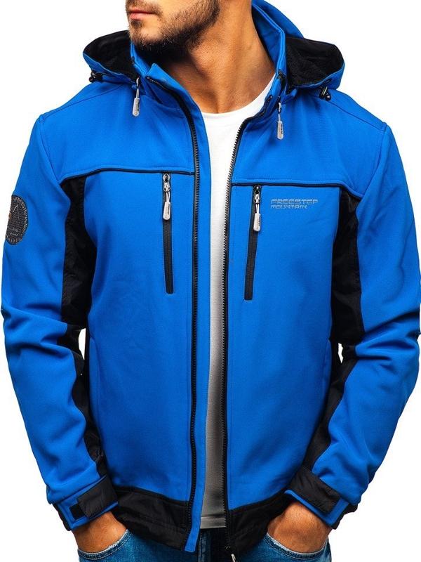 Чоловіча куртка софтшелл синя Bolf 5527