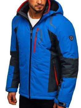 Чоловіча лижна куртка синя Bolf bk085