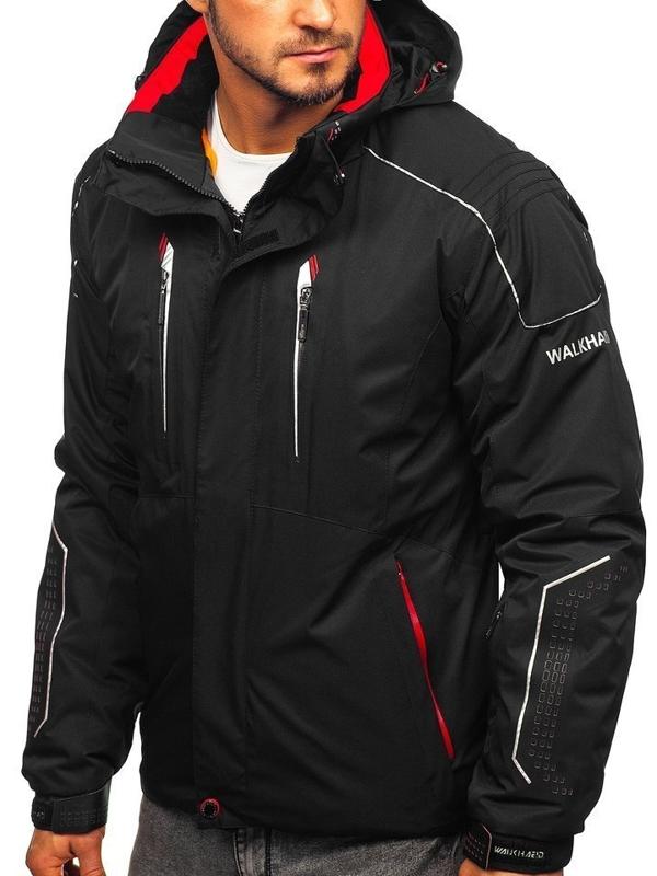 Чоловіча лижна куртка чорно-червона Bolf A5624
