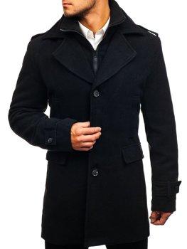Чоловіче зимове пальто чорне Bolf 1808