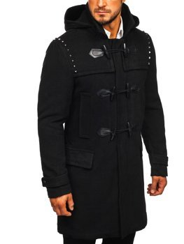 Чоловіче зимове пальто чорні Bolf 88870