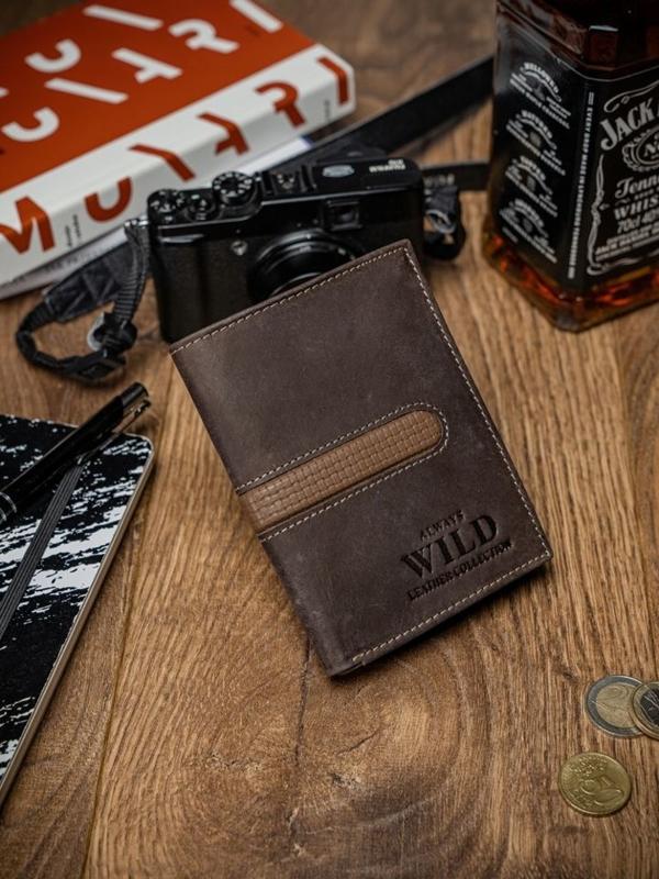 Чоловічий гаманець шкіряний коричневий 2033