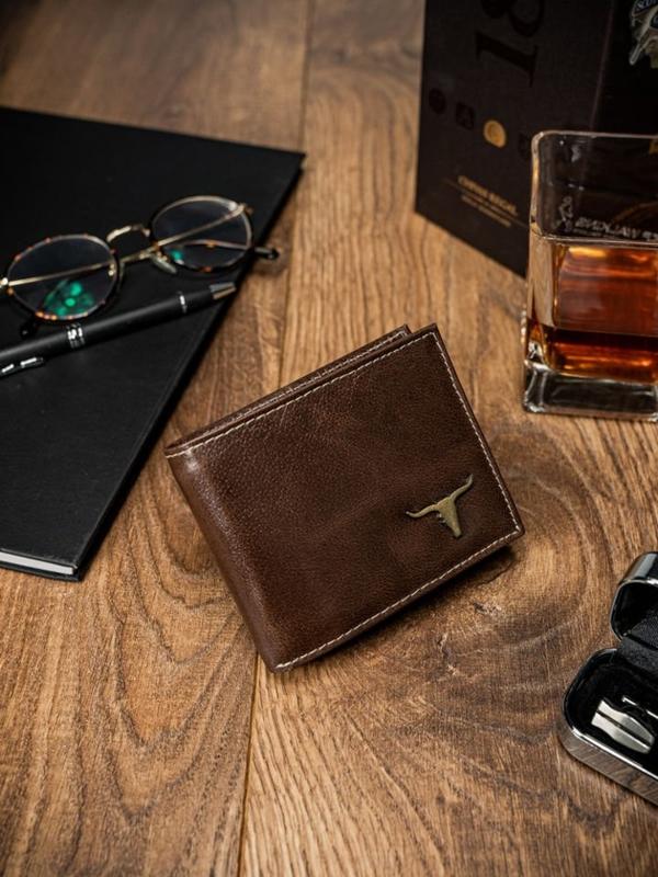 Чоловічий гаманець шкіряний коричневий 53