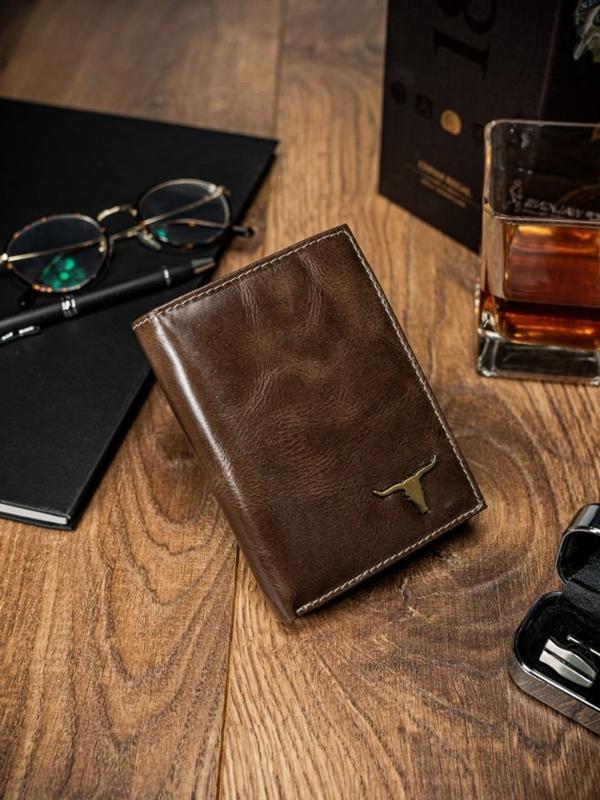 Чоловічий гаманець шкіряний коричневий 64
