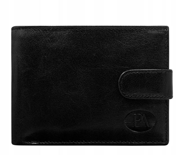 Чоловічий гаманець шкіряний чорний 108