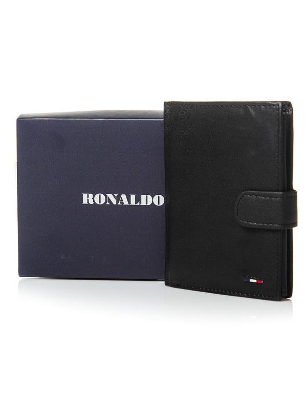 Чоловічий гаманець шкіряний чорний 3078