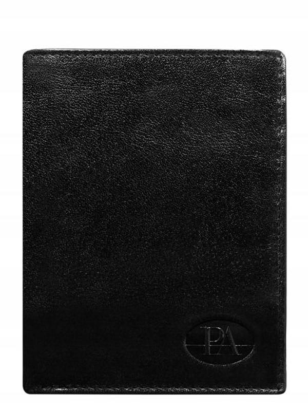 Чоловічий гаманець шкіряний чорний 379