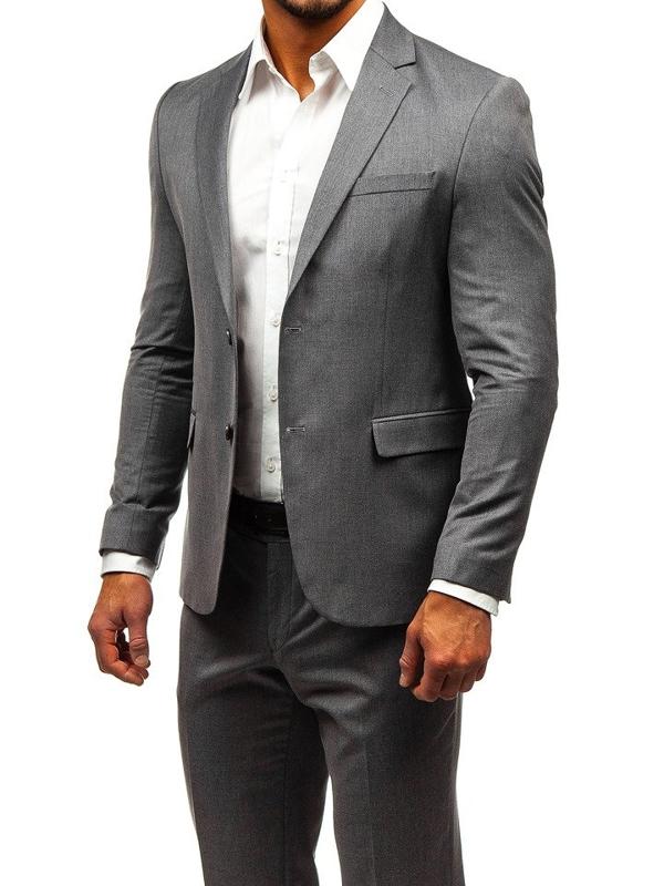 Чоловічий костюм сірий Bolf 172000-1
